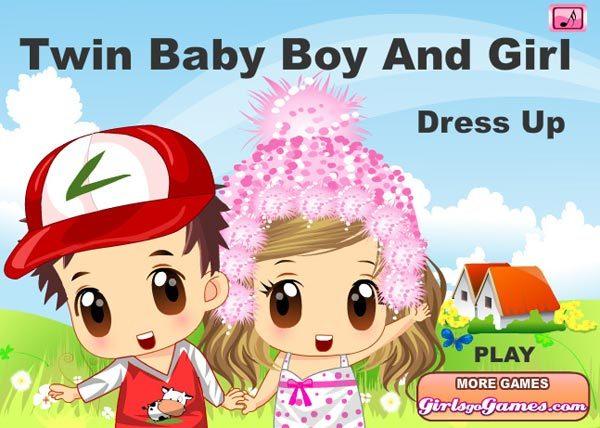 twin baby boy and girl
