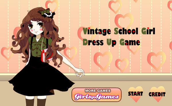 vintage school girl dress up