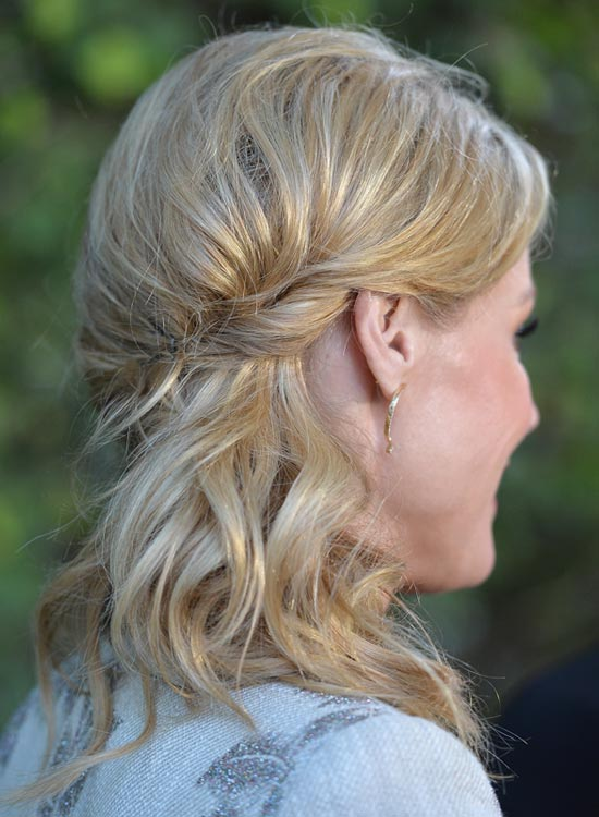 Wavy Side Hairdo With Twisted Side Sweep