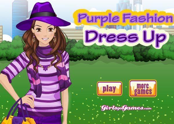 purple fashion dress up