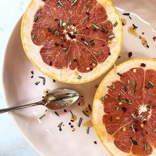 15. Grapefruit With Chili And Rosemary