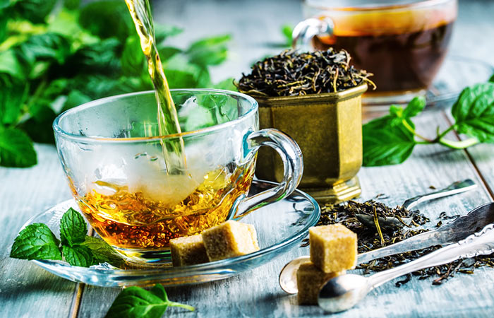 Weight Loss Drinks - Slimming Green Tea And Mint