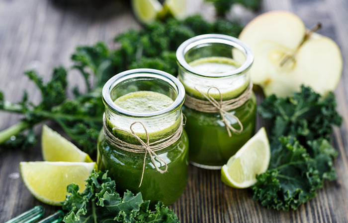Weight Loss Drinks - Slimming Kale And ACV Drink