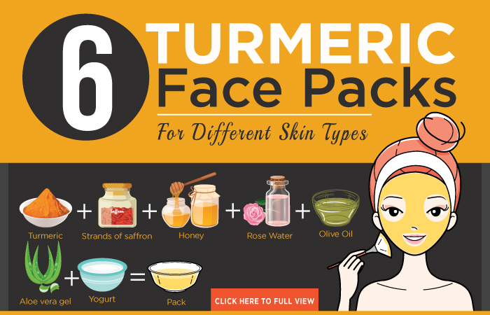 10 Amazing Turmeric Face Packs For Different Skin Types