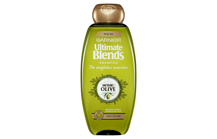 3.Garnier Ultra Blends Mythic Olive Deep Nourishing Shampoo