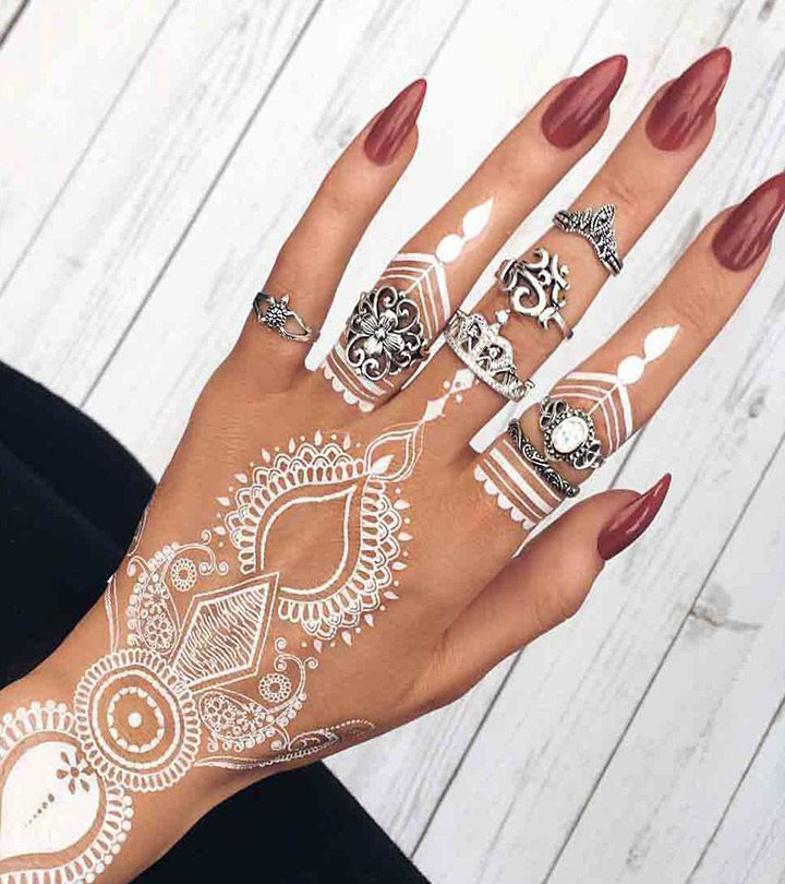Beautiful-White-Henna-Designs-For-You-To-Try-In