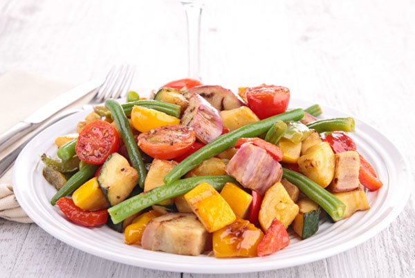 cooked vegetables