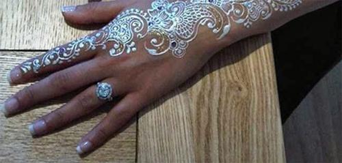 beautiful white henna designs six