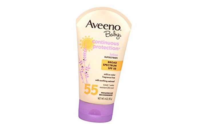 Sunscreens For Kids In India - 10. Aveeno Baby Continuous Protection Sunscreen Lotion