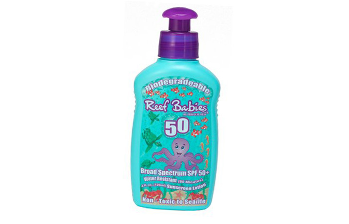 Sunscreens For Kids In India - 15. Reef Babies Biodegradable Sunscreen