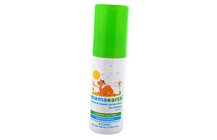 Safest Sunscreens For Kids In India - 4. Mamaearth Mineral Based Sunscreen