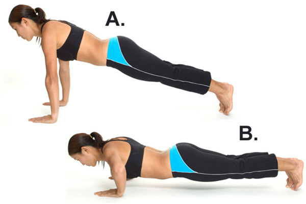 Exercises To Get Flat Abs - Basic Push Up