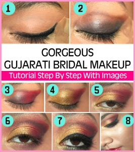 Gorgeous Gujarati Bridal Makeup – Tutorial Step By Step With Images