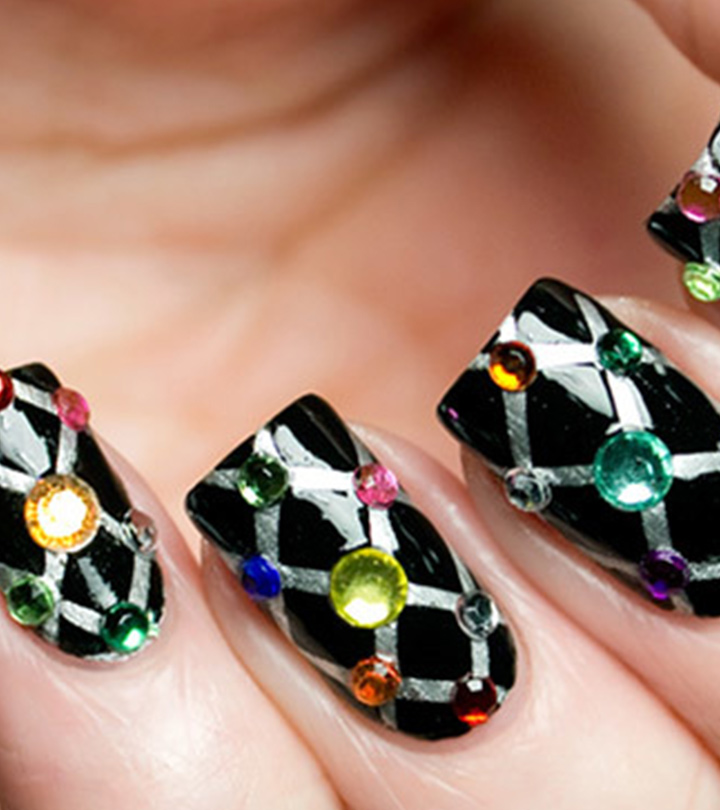 Top 10 Beautiful Rhinestone Nail Art Designs Trending Today