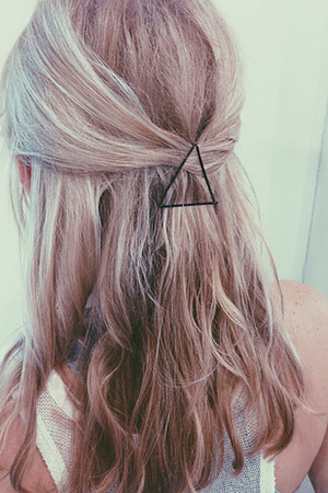 bobby pins as graphic hair