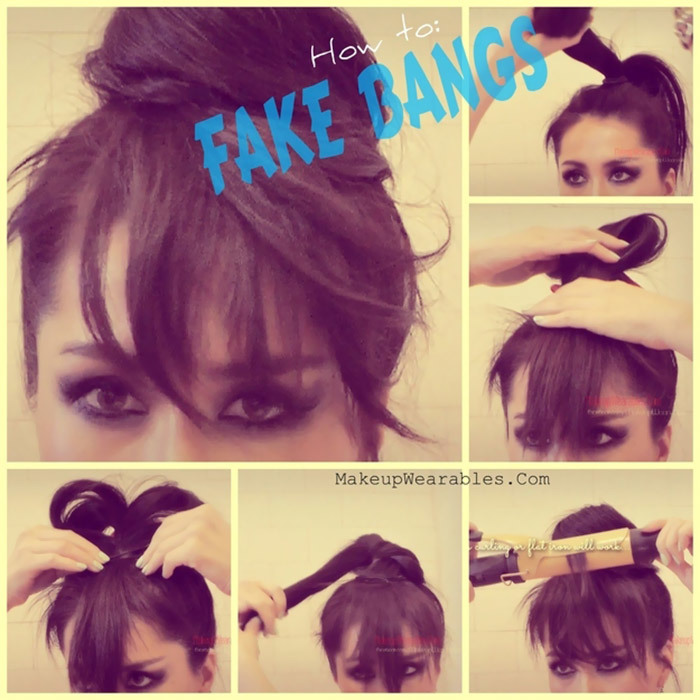 temporary fake bangs