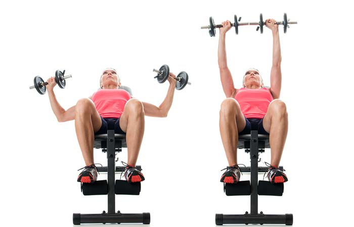 Chest Exercises For Women - Incline Dumbbell Press