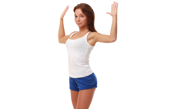 Chest Exercises For Women - Standing Chest Stretch