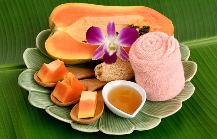 Honey-And-Papaya-Pack