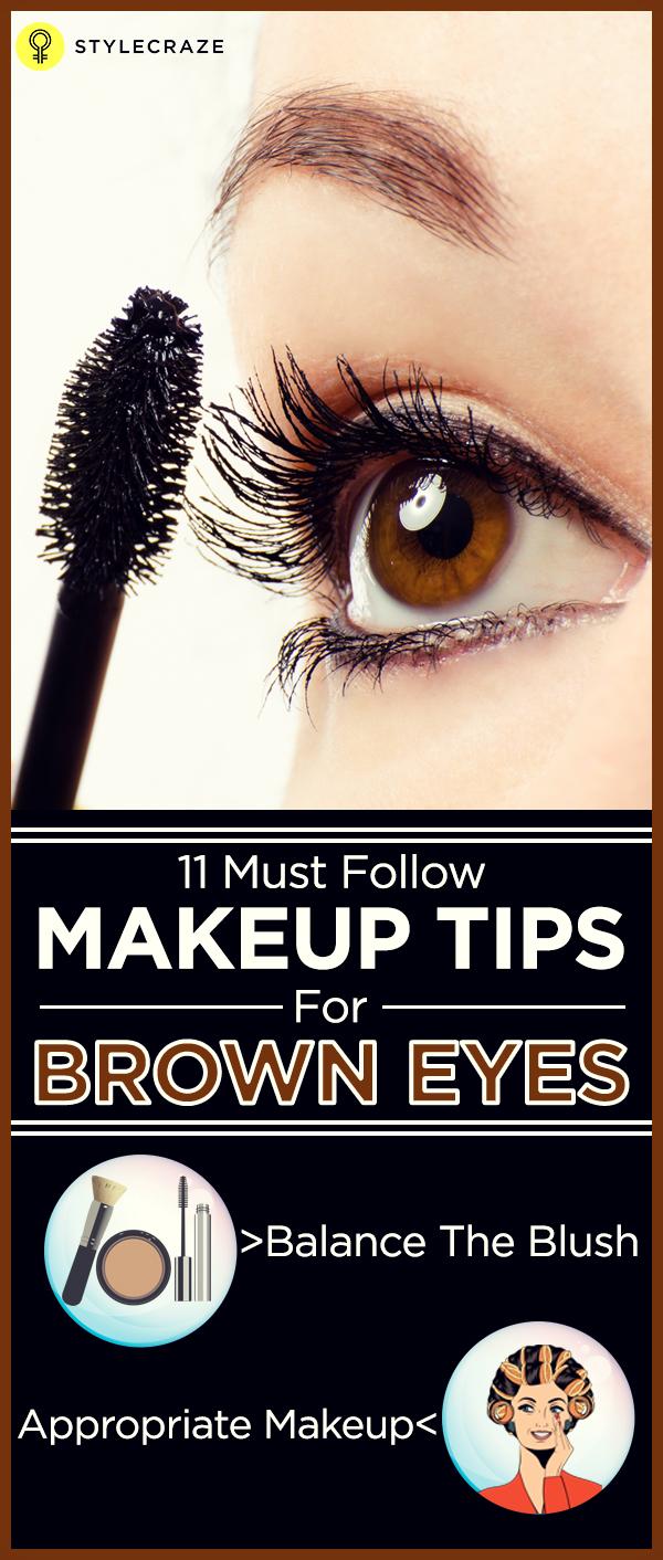 11 Makeup Tips To Emphasize Brown Eyes