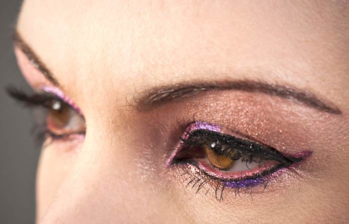 Try Deep Plum Colored Eyeliners for Brown Eyes