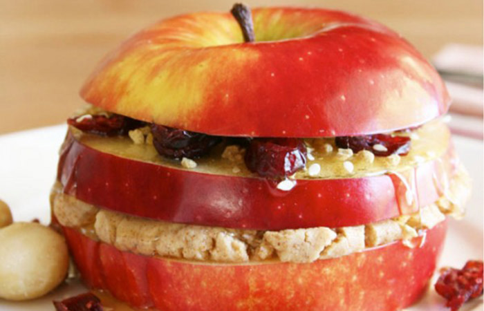 Low Calorie Lunch - Apple Sandwich