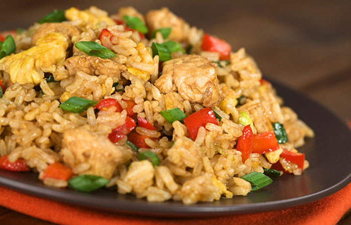 Low Calorie Lunch - Chicken And Rice Stir Fry