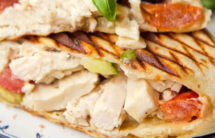 Low Calorie Lunch - Chicken Salad Pita