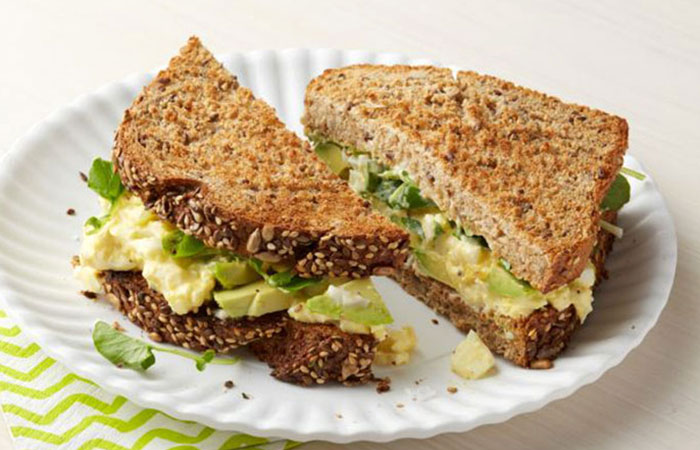 Low Calorie Lunch - Egg Salad Sandwiches With Watercress