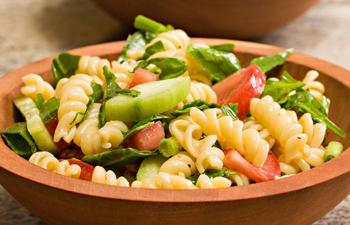 Low Calorie Lunch - Garden Pasta Salad