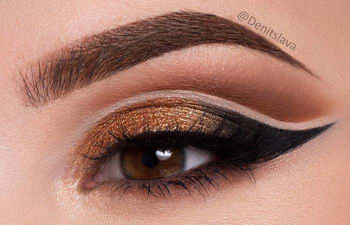 Gold Eyeshadow Makeup For Brown Eyes