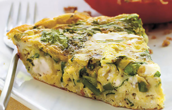 Low Calorie Lunch - Mediterranean-Style Frittata