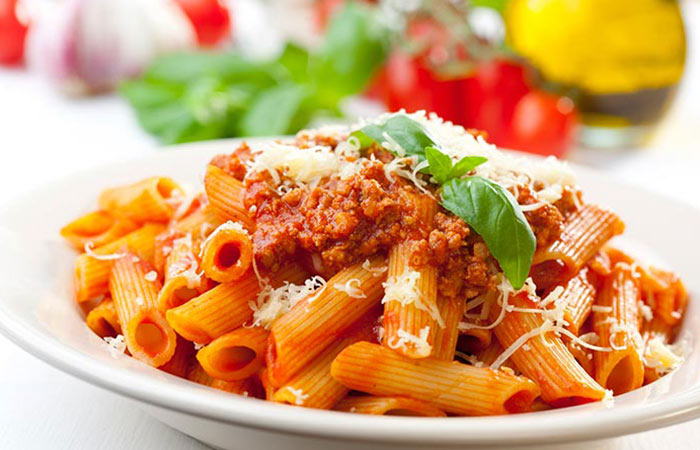 Low Calorie Lunch - Pasta Bolognese