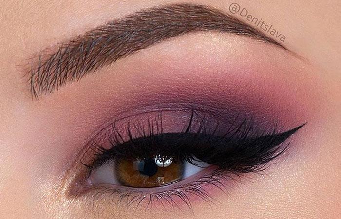 Plum Eyeshadow Makeup for Dark Brown Eyes
