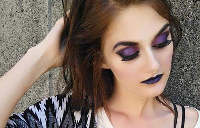 Violet Eyeshadow Makeup For Brown Eyes