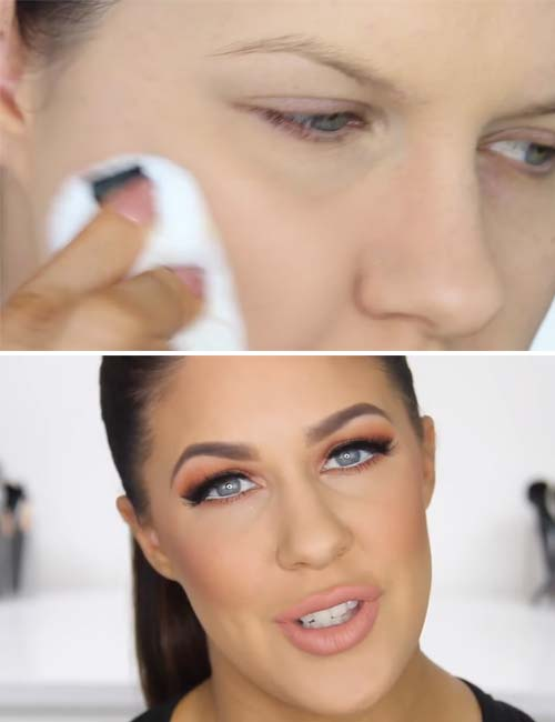 How To Make Pores Smaller With Makeup - Set It With A Powder