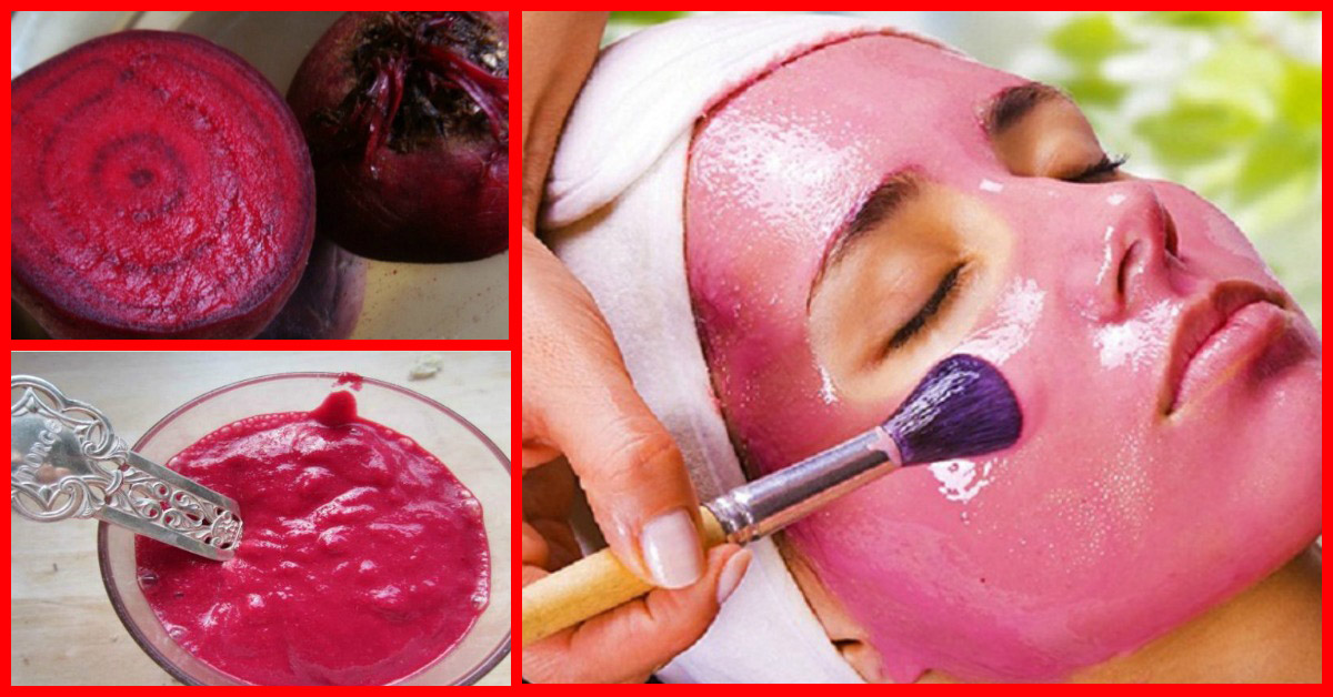 Preparing Beetroot Face Pack for glowing skin