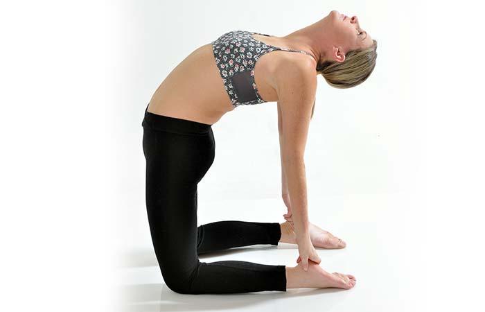 Hip Flexor Stretches - The Camel Yoga Pose
