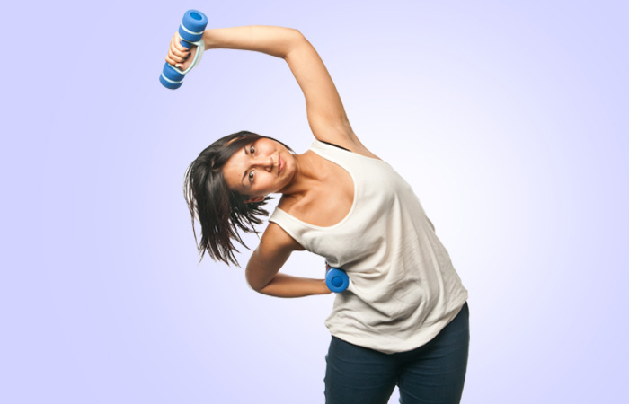 Exercises To Reduce Side Fat - Dumbbell Side Bend Excercise