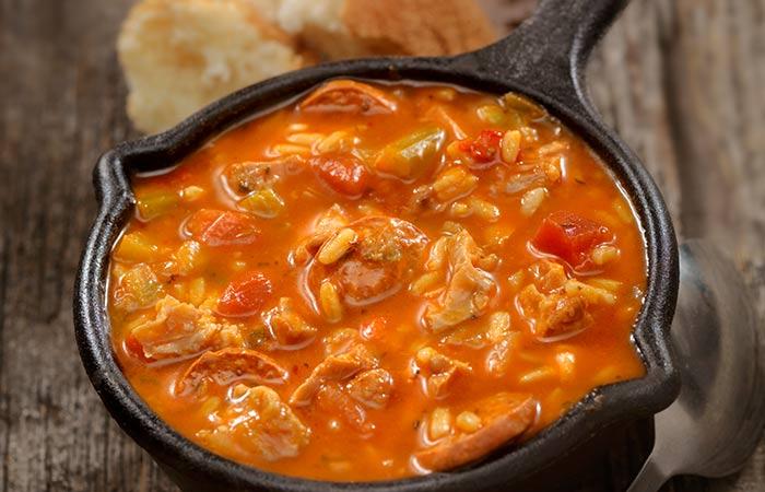 Low Calorie Dinner Recipes - Healthy Chicken Sausage & Bean Stew