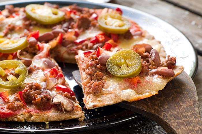 Low Calorie Dinner Recipes - South Western Pizza