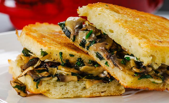 Healthy Sandwiches For Weight loss - Grilled Cheese With Mushroom