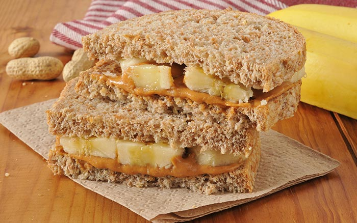 Healthy Sandwiches For Weight loss - PB & B Sandwich