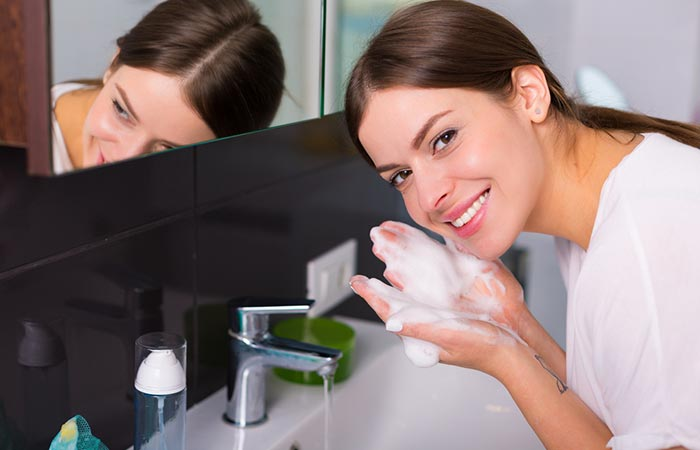 Step 2 Follow-Up With A Water-Based Cleanser
