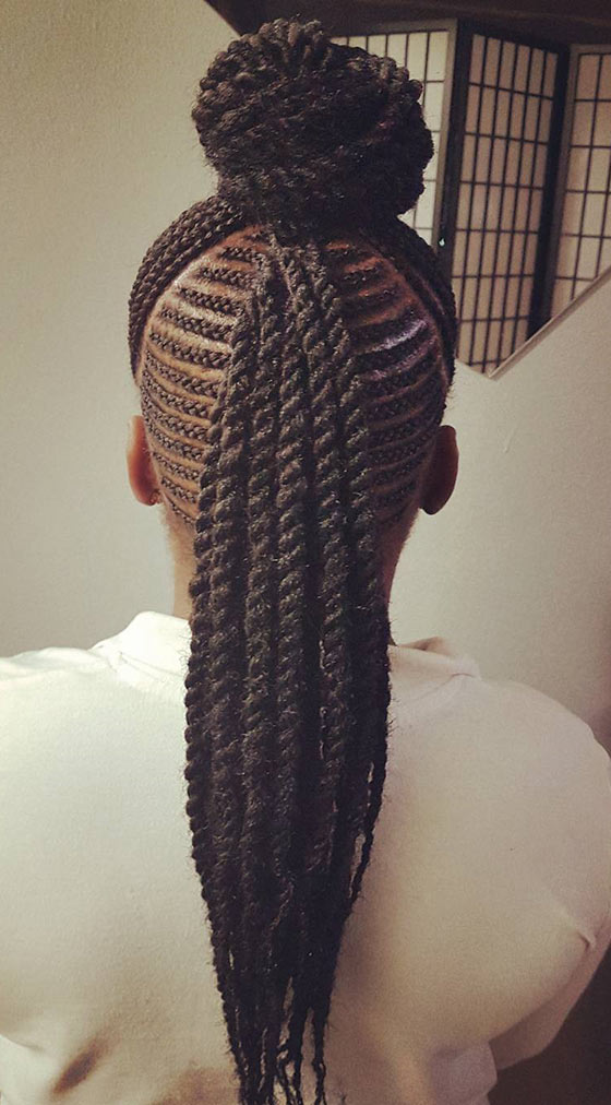 10.-Cornrows-Ponytail-And-Bun-Combo