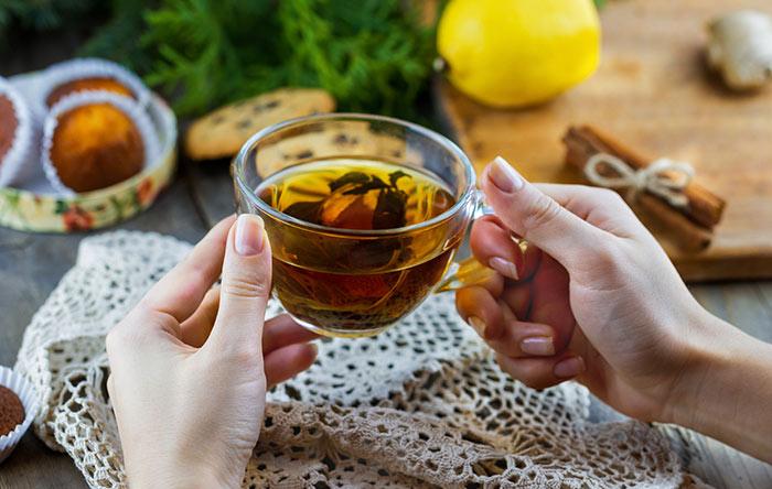 Detox Drinks - Green Tea And Lemon