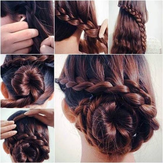 Side-Braided-Bun