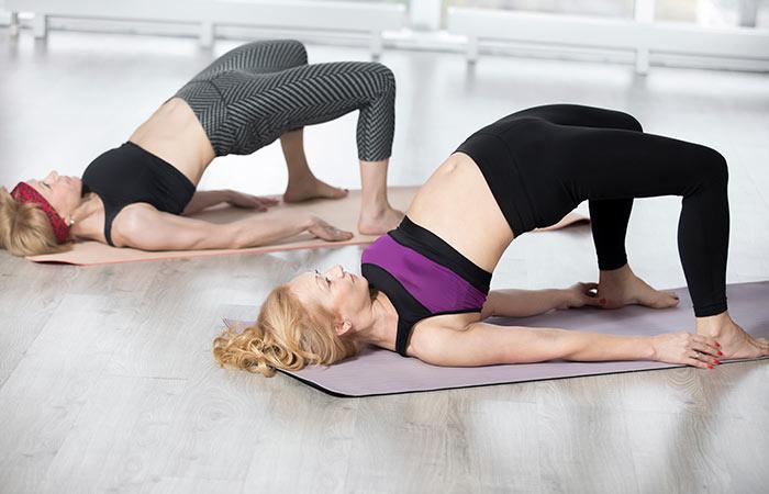 Yoga For Thighs And Hips - Setu Bandhasana