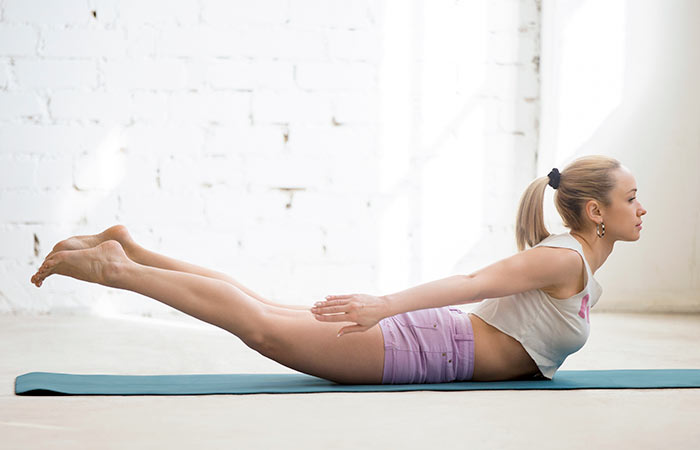 Yoga For Thighs And Hips - Salabhasana