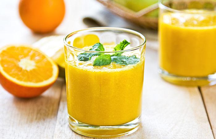 Cucumber And Orange Detox Smoothie